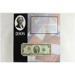 2008 SAN FRANCISCO $2 SINGLE NOTE 2003-A