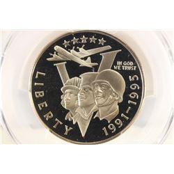 1991-95-P WWII COMMEMORATIVE HALF DOLLAR PCGS PR69