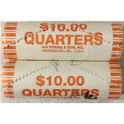 2-$10 ROLLS OF 2002-P OHIO & 2003-D ALABAMA