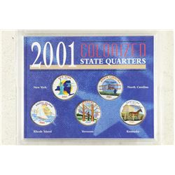 2001 COLORIZED STATE QUARTERS SET