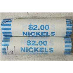 2-$2 ROLLS OF 2004-D LOUISIANA PURCHASE