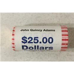 $25 ROLL OF 2008 JOHN QUINCY ADAMS PRESIDENTIAL