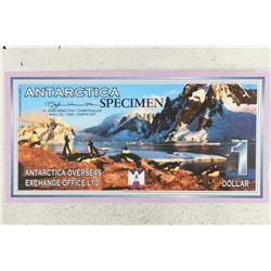 1999 ANTARCTICA SPECIMEN $1 WITH PENGUINS