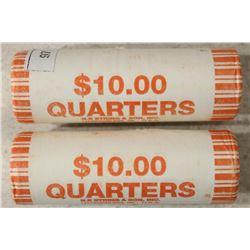 2-$10 ROLLS OF 2008-P ALASKA STATE QUARTERS BU