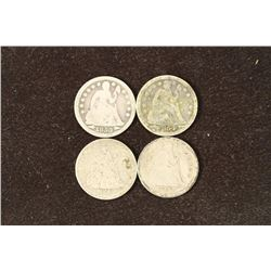 1853, 54, 56 & 57 SEATED LIBERTY DIMES
