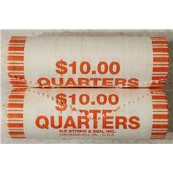 2-$10 ROLLS OF 2009-P GUAM QUARTERS BRILLIANT UNC
