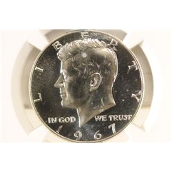1967 SMS 40% SILVER JOHN F. KENNEDY HALF NGC MS68