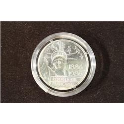 1986 FRANCE SILVER PIEDFORT 100 FRANCS BU