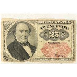 SERIES 1874 TWENTY FIVE CENT US FRACTIONAL NOTE