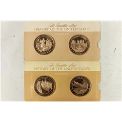 """4-1 3/4"""" SOLID BRONZE PROOF MEDALS HISTORY OF THE"""