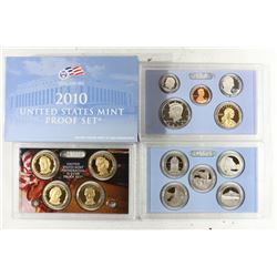 2010 US PROOF SET (WITH BOX) 14 PIECES