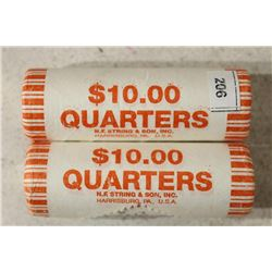 2-$10 ROLLS OF 2013-P BASIN N.P. QUARTERS BU