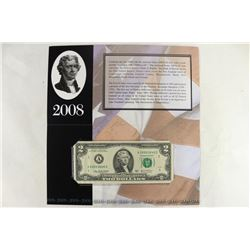 2008 BOSTON $2 SINGLE NOTE 2003-A FRN CRISP UNC