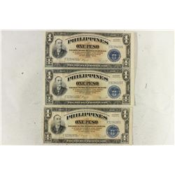 3-VICTORY SERIES #66 WWII PHILIPPINES PESOS