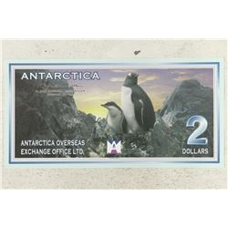 1999 ANTARCTICA $2 BILL WITH PENGUINS CRISP UNC