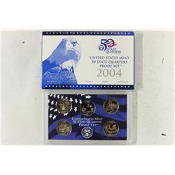 2004 US 50 STATE QUARTERS PROOF SET WITH BOX