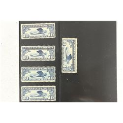 5 SCOTT NUMBER C-10-US LINDBERGH AIR MAIL POSTAGE