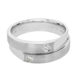 0.13 CTW Diamond Ring 14K White Gold - REF-53Y5X