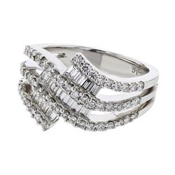 1.14 CTW Diamond Ring 18K White Gold - REF-125H5M