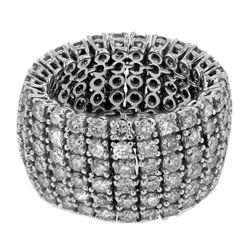 6.79 CTW Diamond Ring 14K White Gold - REF-333X7R