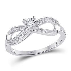 0.20 CTW Diamond Infinity Promise Bridal Ring 10KT White Gold - REF-22W4K