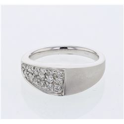 0.38 CTW Diamond Ring 14K White Gold - REF-57W6H