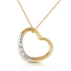 Genuine 0.03 ctw Diamond Anniversary Necklace Jewelry 14KT Yellow Gold - REF-37A4K