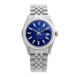 Rolex Pre-owned 36mm Mens Blue Stainless Steel - REF-450W2Y