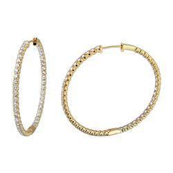 6.41 CTW Diamond Earrings 14K Yellow Gold - REF-437Y6X