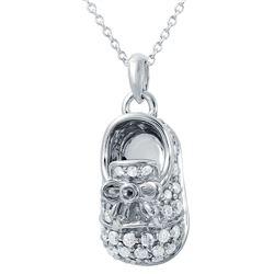 0.68 CTW Diamond Necklace 14K White Gold - REF-72Y9X