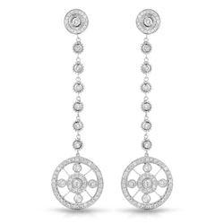 1.37 CTW Diamond Earrings 18K White Gold - REF-157Y3X