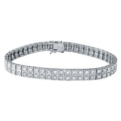 3.53 CTW Diamond Bracelet 18K White Gold - REF-318R5K