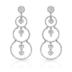 1.45 CTW Diamond Earrings 14K White Gold - REF-129H8M