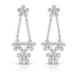 0.18 CTW Diamond Earrings 14K White Gold - REF-26N3Y
