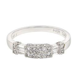 0.56 CTW Diamond Band Ring 14K White Gold - REF-51H4M