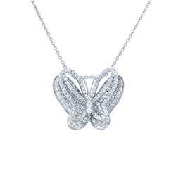 1.11 CTW Diamond Necklace 14K White Gold - REF-79H6M