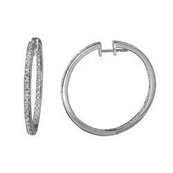 1.77 CTW Diamond Earrings 14K White Gold - REF-114M7F