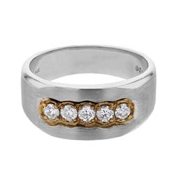 0.48 CTW Diamond Ring 14K 2Tone Gold - REF-84R9K