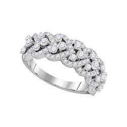 1.36 CTW Diamond Spade-shape Ring 14KT White Gold - REF-146M9H