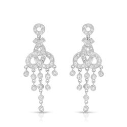 0.75 CTW Diamond Earrings 18K White Gold - REF-96H3M