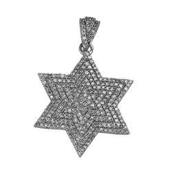 0.77 CTW Diamond Necklace 14K White Gold - REF-48R5K