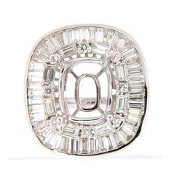 3.15 CTW Diamond Semi Mount Ring 14K White Gold - REF-318F8N