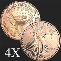 1 oz Saint-Gaudens .999 Fine Copper Bullion Round