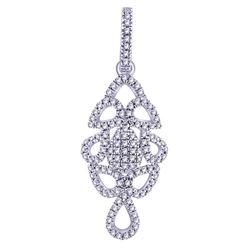 0.17 CTW Diamond Pendant 14K White Gold - REF-14F9N