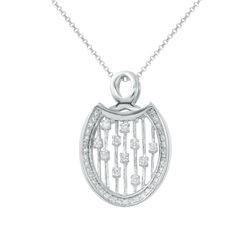 0.46 CTW Diamond Necklace 14K White Gold - REF-42Y7X