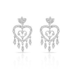 0.81 CTW Diamond Earrings 14K White Gold - REF-71W2H