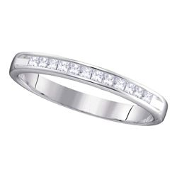 0.25 CTW Diamond 3mm Wedding Ring 14KT White Gold - REF-37X5Y