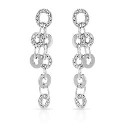 1.02 CTW Diamond Earrings 14K White Gold - REF-136X5R