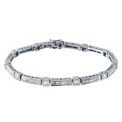 2.96 CTW Diamond Bracelet 18K White Gold - REF-364Y2X