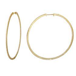 1.38 CTW Diamond Earrings 14K Yellow Gold - REF-109R4K